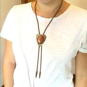 Vintage Gold BOLO Neck Tie Necklace